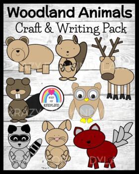 Woodland Animals Value Pack: Squirrel,Beaver,Bear,Fox,Racc