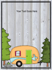 EDITABLE Woodland Camping Themed Posters & Slides