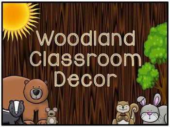 Woodland Classroom Decor