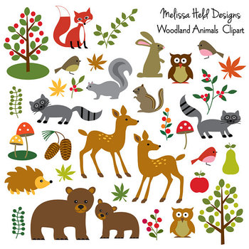 Clipart: Woodland Animal Clip Art Clipart