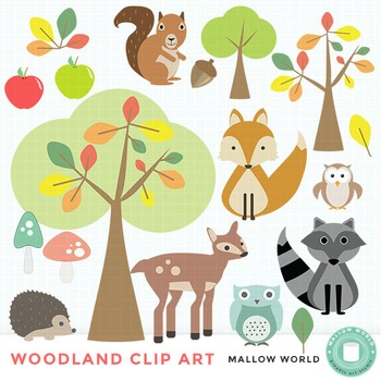 Fall, Woodland, and Forest Animal Clip Art