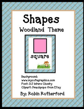 Woodland Forest theme Shape signs