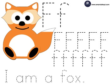 Freebie- Woodland World Fox Letter Trace