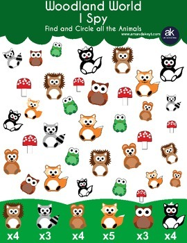 Freebie- Woodland World I Spy