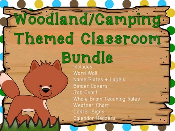 Woodland/Camping Themed Classroom Bundle