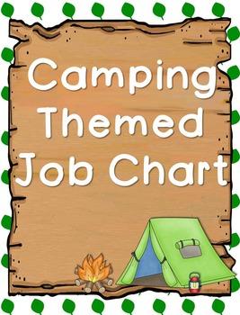 Woodland/Camping Themed Job Chart