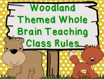 Woodland/Camping Whole Brain Teaching Class Rules