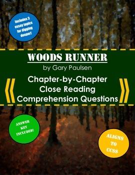 Woods Runner Close Reading Comprehension Questions & Essay Topics