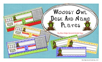 Woodsy Owl Desk and Name Plates