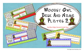 Woodsy Owl Desk and Name Plates 2