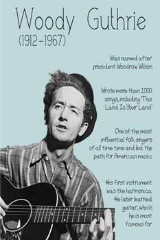 Woody Guthrie printable poster
