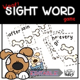 Woof!  Sight Word Recognition Game for First Grade Words