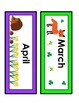 Wooland Animals: Calendar Headings and Word Wall Heading Letters