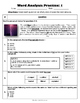 Word Analysis QR Code Practice Sheet 1 - SOL 4.4