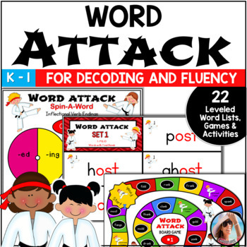Word Attack~22  Fluency Improving Word Lists, Flash Cards