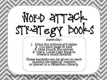 Word Attack Strategy Books