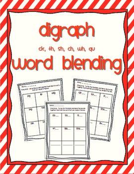 Word Blending - digraphs ck, th, sh, ch, wh/qu