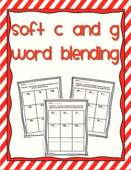 Word Blending - soft c and soft g