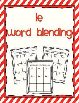 Word Blending - syllable le