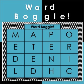 Word Boggle PowerPoint Slides