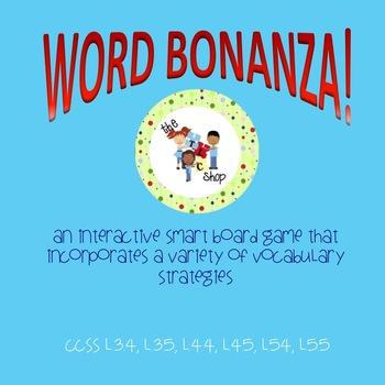 Word Bonanza! SmartBoard Vocabualry Games