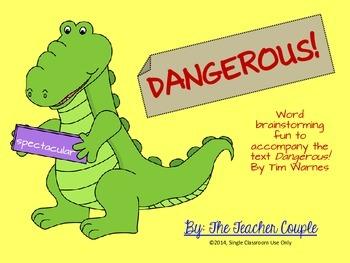 Word Brainstorming Activity for Dangerous by Tim Warnes