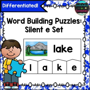 Word Building Puzzles: Silent e Set