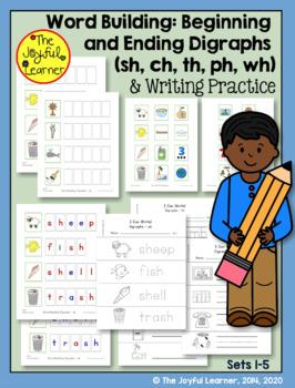 Word Building & Writing Practice: Beginning & Ending Digraphs