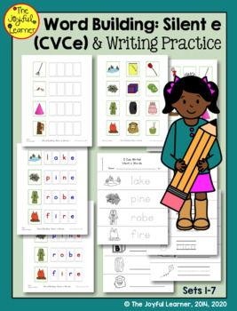 "Word Building & Writing Practice: Silent ""e"" Words (CVCe)"