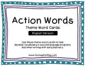 Word Cards - Verbs (English)