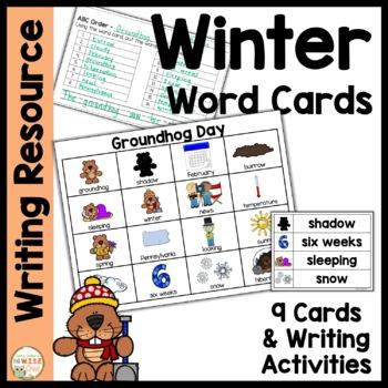 Word Cards: Winter BUNDLE