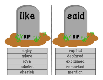 """Word Cemetery to Replace """"Dead"""" Words Word Wall"""