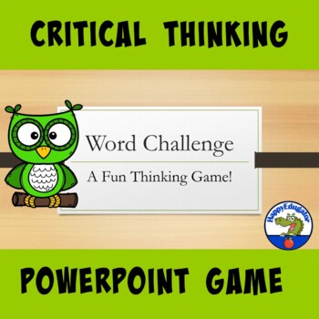 Word Challenge - A Fun SmartBoard Critical Thinking Game