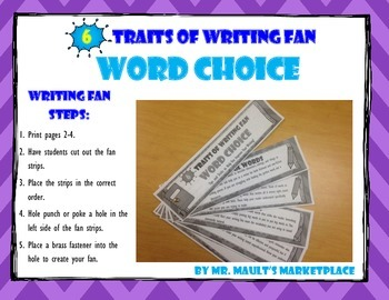 [Word Choice] 6 Traits of Writing Rubric Fan- Reference To