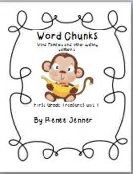 Word Chunks and Other Spelling Patterns Unit 1-First Grade