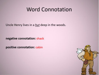 Word Connotation Lesson and Exercise