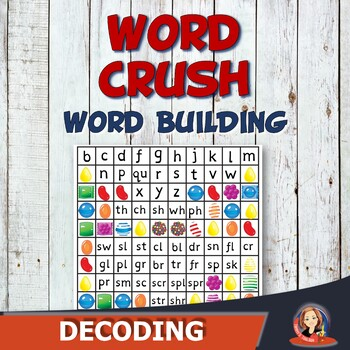 Word Crush - Word Building Phonics Learning Center Activity