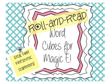 Word Cubes: Roll and Read Words with Magic E