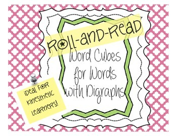 Word Cubes: Roll and Read Words with Consonant Digraphs (H