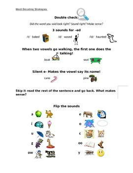 Word Decoding Strategies