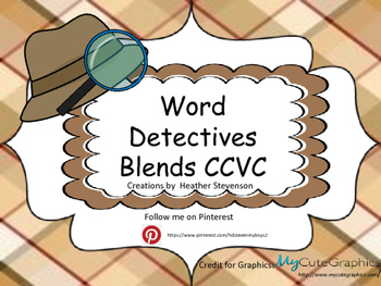 Word Detective Blends (CCVC)