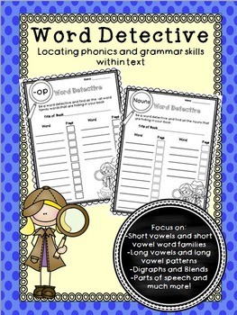 Word Detective - Locating phonics and grammar skills within text