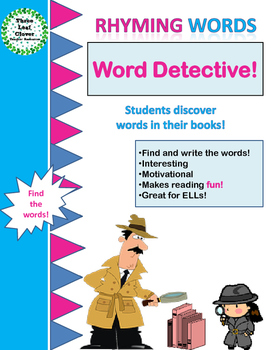 Rhyming Words - Word Detective! - Literacy Center Activity