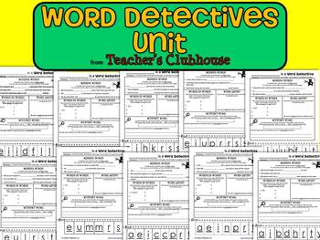 Word Detectives Unit from Teacher's Clubhouse