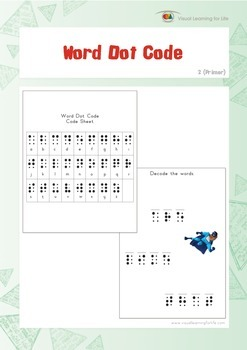 Word Dot Code (Kindergarten)