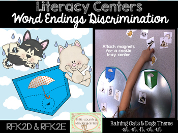 Word Endings Discrimination Sort: Raining Cats and Dogs -a