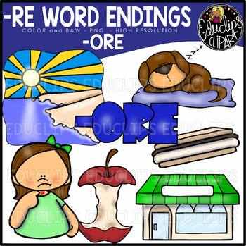 Word Endings –ORE Clip Art Bundle