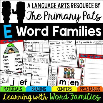 E Word Families Bundle: -ed, -eg, -et