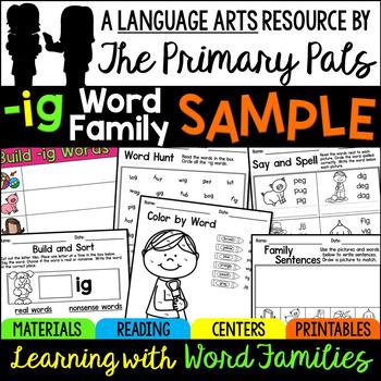 IG Word Family Sample