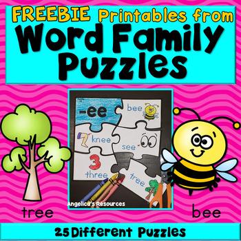 Word Families Freebie
